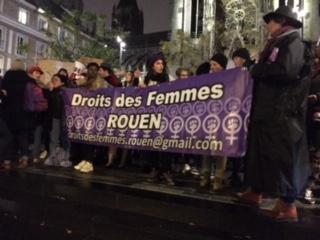 La manifestation du 25 novembre à Rouen, dénonciation des violences faites aux femmes
